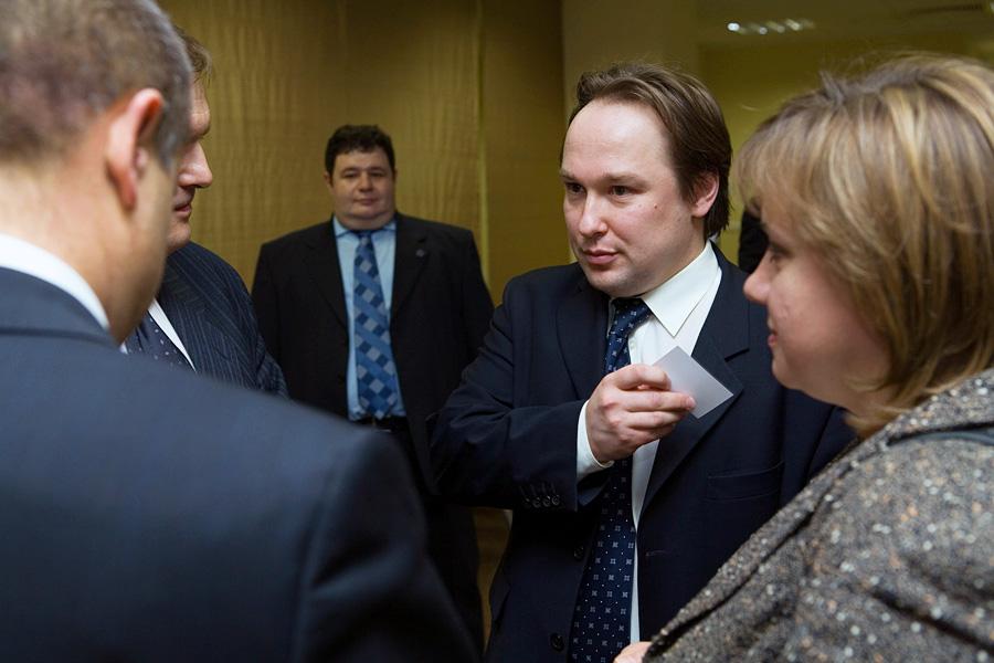 Игорь Брук, Дмитрий Орлов, Ирина Сахарова, члены учредительного собрания Внешторгклуба