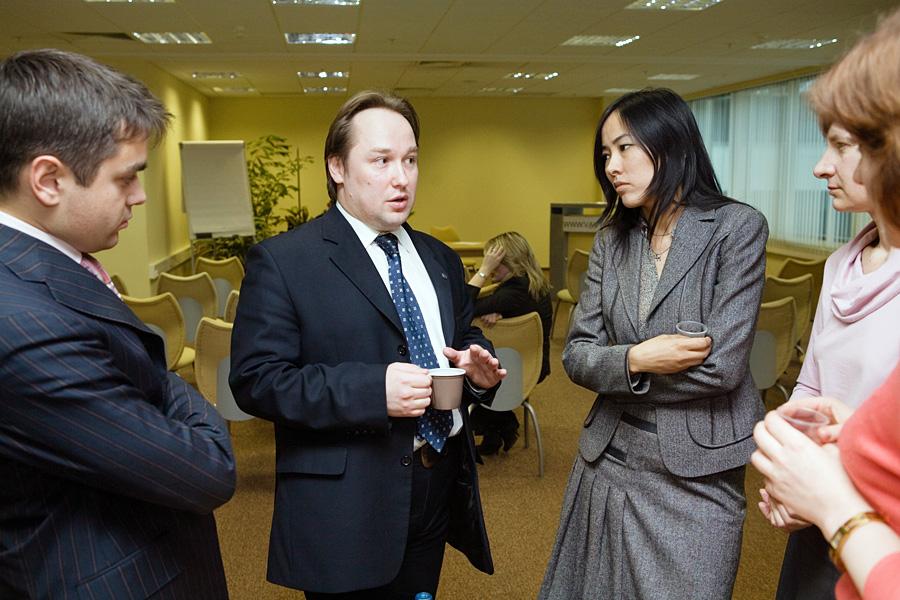 Дмитрий Воробьев, Дмитрий Орлов, Тогжан Кожалиева, члены учредительного собрания Внешторгклуба