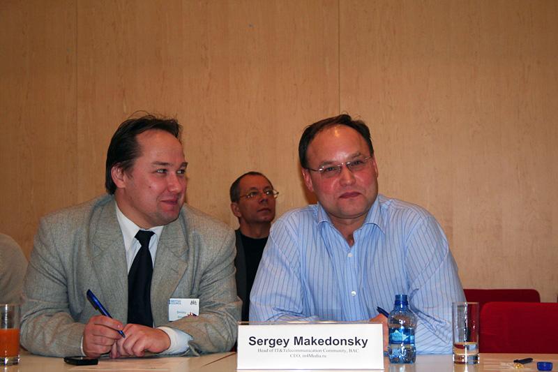 Дмитрий Орлов, Сергей Македонский, Внешторгклуб и British Alumny Club проводят круглый стол «Mobile convergence» в Посольстве Великобритании, 2007